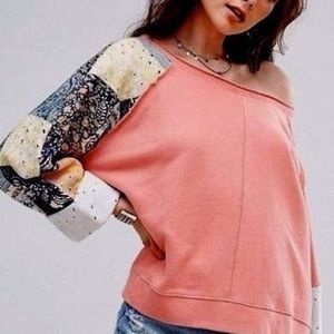 Free People Suns Out Patchwork Sweatshirt